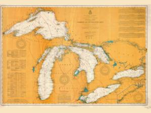 thumbnail for chart WI,1907,Northern And Northwestern Lakes