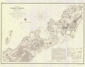 thumbnail for chart MA,1857,The Harbor of Woods Hole