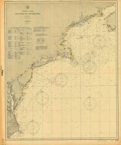 thumbnail for chart NC,1906,Cape Sable to Cape Hatteras