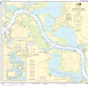 thumbnail for chart Houston Ship Channel Alexander Island to Carpenters Bayou;San Jacinto and Old Rivers