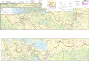 thumbnail for chart Intracoastal Waterway Catahoula Bay to Wax Lake Outlet including the Houma Navigation canal