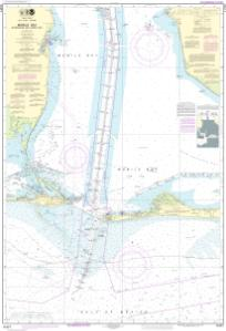 thumbnail for chart Mobile Bay Approaches and Lower Half
