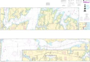 thumbnail for chart Intracoastal Waterway Albermarle Sound to Neuse River;Alligator River;Second Creek