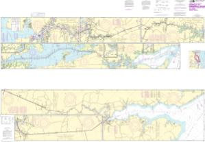 thumbnail for chart Intracoastal Waterway Norfolk to Albemarle Sound via North Landing River or Great Dismal Swamp Canal