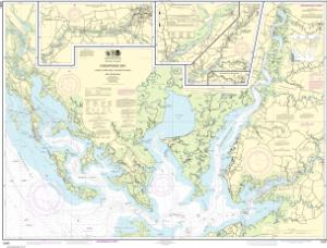 thumbnail for chart Chesapeake Bay Honga, Nanticoke, Wicomico Rivers and Fishing Bay