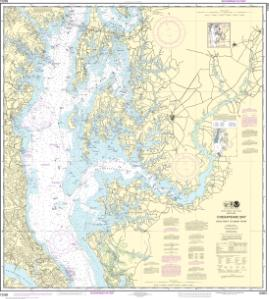 thumbnail for chart Chesapeake Bay Cove Point to Sandy Point