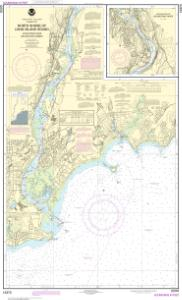 thumbnail for chart North Shore of Long Island Sound Housatonic River and Milford Harbor