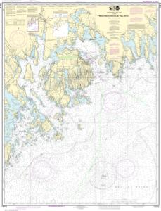 thumbnail for chart Frenchman and Blue Hill Bays and Approaches