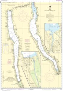 thumbnail for chart Cayuga and Seneca Lakes;Watkins Glen;Ithaca