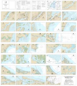 thumbnail for chart SMALL-CRAFT BOOK CHART - West End of Lake Erie from Perrysburg, OH., of the Maumee R. to Huron R., Mich., and Bar Pt., Ont. (book of 34 charts)