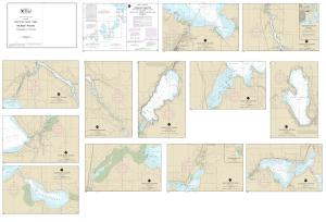 thumbnail for chart SMALL-CRAFT BOOK CHART - Inland Route, Cheboygan to Conway (book of 12 Charts)