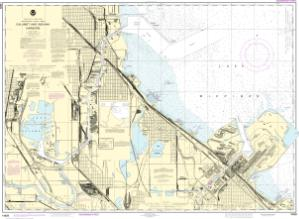thumbnail for chart Calumet, Indiana and Buffington Harbors, and Lake Calumet