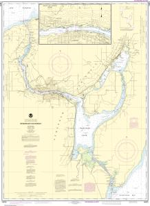 thumbnail for chart Keweenaw Waterway, including Torch Lake;Hancock and Houghton