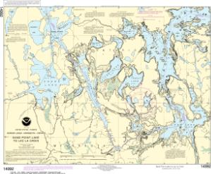 thumbnail for chart Sand Point Lake to Lac la Croix, including Crane Lake and Little Vermilon Lake