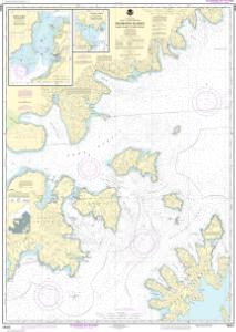 thumbnail for chart Shumagin Islands-Nagai I. to Unga I.;Delarof Harbor;Popof Strait, northern part