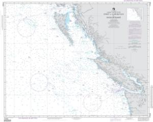 thumbnail for chart Strait of Juan de Fuca to Dixon Entrance