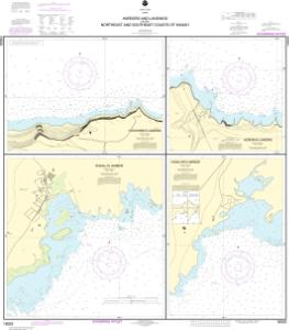 thumbnail for chart Harbors and Landings on the Northeast and Southeast Coasts of Hawai'i;Punalu'u Harbor;Honu'apo Bay;Honokaa Landing;Kukuihaele Landing