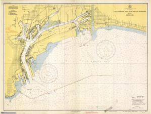 thumbnail for chart CA,1942, Los Angeles And Long Beach Harbors