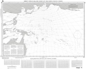 thumbnail for chart Great Circle Sailing Chart of the North Pacific Ocean