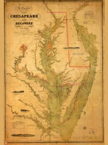 thumbnail for chart MD,1840,Chesapeake and Delware Bays