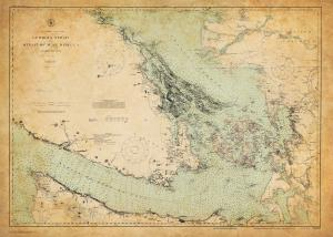 thumbnail for chart WA,1916,Georgia Strait and Strait of Juan Defuca